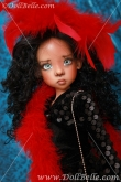 DollBelle Black & Red Sequin Set #1