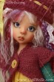 Желто-сиренево-голубой наряд DollBelle