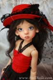 DollBelle Red & Black Dress Set