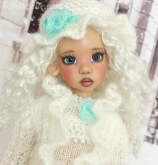 Winter Outfit #3 for Kaye Wiggs MSD BJD or any other 18″ MSD size doll