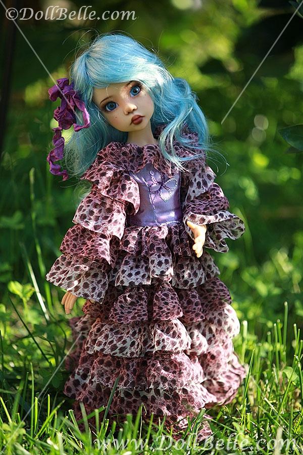 DollBelle Леопардовое платье для Хоуп